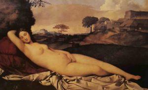 Джорджоне. Спящая Венера. Примерно 1508. Картинная Галерея. Дрезден
