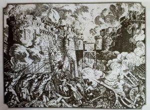 Взятие Бастилии 14 июля 1789. Гравюра 19 века. Теперь празднуют праздник «Каторз жуйе – ля приз де ля Бастий»