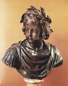 Жак Саразен (1592-1660). Бюст Людовика XIV в детстве. 1643. Бронза. Лувр. Париж