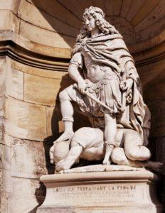 Жиль Герен. Людовик XIV – победитель Фронды. 1753-1754 (как раз годы, когда король расправился с фрондой). Замок Шантийи (40 км от Парижа), которым в те времена владел Великий Конде, главный фрондер
