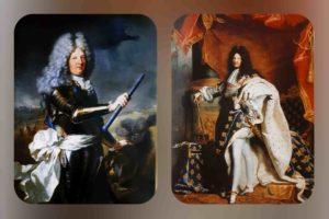 Гиацинт Риго (1659-1743). Справа: Портрет Людовика XIV. 1701. Слева: Великий Дофин. 1688