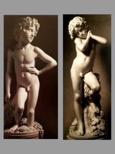 Слева: Вакх Бартолини. Справа: Вакх Дюпре.