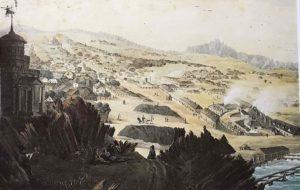 П.П.Свиньин. Вид Нижнетагилского завода.1820-ые годы. Лист из альбома