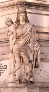 Фрагмент памятника - Сибирь с богом Плутоном
