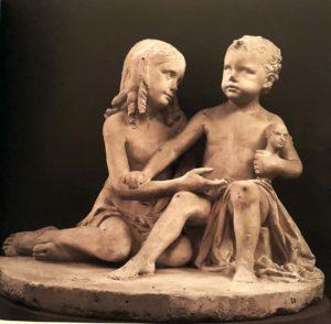 Бартолини. Стол с детьми леди Бингэм. Гипсовая модель. Не позднее 1847 г. Галерея Академии. Флоренция