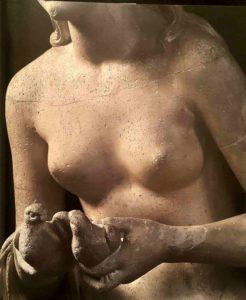 Бартолини. Обет невинности. 1848. Гипс и мраморная крошка. Галерея Академии. Флоренция. Фрагмент
