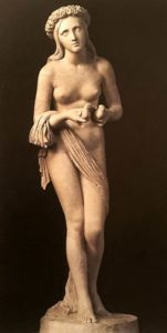 Бартолини. Обет невинности. 1848. Гипс и мраморная крошка. Галерея Академии. Флоренция