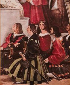 Рафаэль Санти. Швейцарские гвардейцы. Фреска «Месса в Больсене». 1512. Итальянцы молодцы: швейцарской красотой завоевывают мир