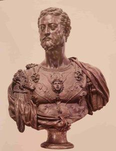Бенвенуто Челлини. Козимо I Медичи. 1546-1547. Бронза. Национальный музей Барджелло. Флоренция. (Музей скульптуры и декоративно-прикладного искусства)
