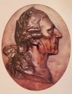 Иоганн Готфрид Шадов. Фридрих II Прусский с лавровым венком. Около 1819-1826. Бронза. Частная коллекция