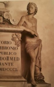 Бартолини. Памятник Витторио Фоссомброни. 1846-1850. Базилика Санта-Кроче. Флоренция. Деталь