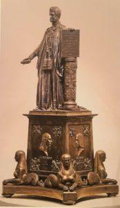 Модель памятника великому герцогу Тосканы Леопольду II. Посеребрённая бронза. Модель. Около 1845