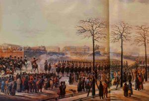 К.И.Кольман. 14 декабря 1825 года на Сенатской площади. 1820-ые. Самая известная репродукция