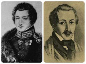 Портреты Пестеля (слева) и Каховского (справа)