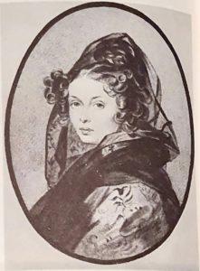 Портрет А.Г.Муравьевой. П.Ф.Соколов. Акв.1826. Жена Никиты Муравьева (урожденная графиня Чернышева).