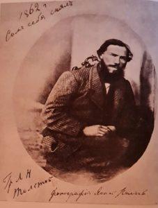 Л.Толстой. 1862. г. Ясная Поляна. Автопортрет.