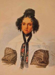 Н.Бестужев. Портрет М.Н.Волконской. 1837