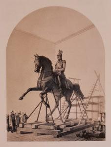 Посещение Александром II барона П.К.Клодта. Иллюстрация из Русского художественного листка