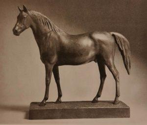Клодт. Скаковая лошадь. Этюд. 1838. Бронза.