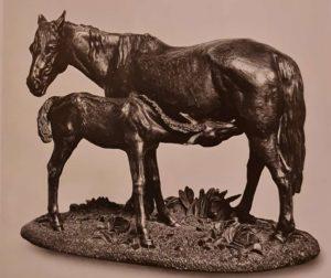 Клодт. Кобыла с жеребенком. 1854-1855
