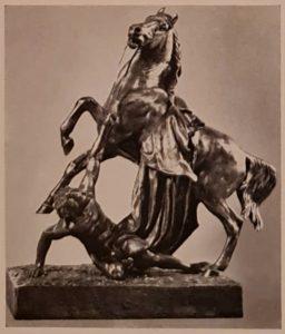 Клодт. Конь с водничим. Вариант третьей группы. Есть в воске. А это – из бронзы