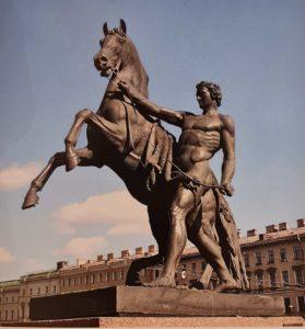 П.К.Клодт. Конь с водничим. Аничков мост. 1841. Первая группа