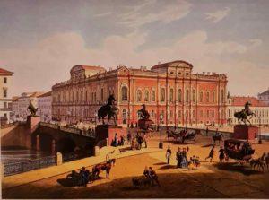 И.И.Шарлемань, Ж.А.Дюрои. Аничков мост. 1850. Год установки последней группы