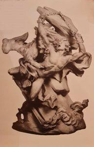 Николя-Себастьян Адам (годы жизни 1705-1778). Прометей. 1738-1762. Мрамор. Высота 45 дюймов. Дюйм равен 2,54 см, то есть высота 1,14 метра