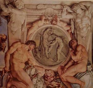 Аннибале Каррачи. Аполлон и Марсий. Около 1597. Фреска. Палаццо Фарнезе. Тема мести богов