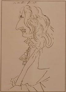 Бернини. Карикатура на французского кавалера (аристократа). Рим. Национальный кабинет эстампов. Попал в точку, «злопамятные» итальянцы бережно хранят рисунок