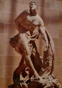Пюже. Милон Кротонский. 1670-1682. Каррарский мрамор. Высота 270 см. Лувр. Париж. мм