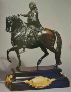 По модели Дежардена (1617-1694, почти те же годы жизни, что и у Пюже). Людовик XIV, король Франции. Бронза позолоченная, высота 43 см. Отливка 1700-1705 г.г. Франция. Коллекция Уоллеса. Лондон