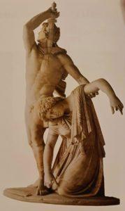 Галл, убивающий себя после того, как убил жену. (Группа Людовизи). Это мраморная копия высотой 211 см, находящаяся в Национальном музее в Риме. Бронзовый оригинал был создан при царях Пергама Аттале I и его дяде Эвмене II примерно в 240 г.до.н.э