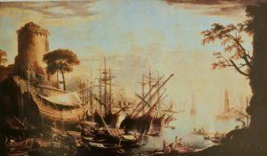 Сальватор Роза. Закат на море. Питти. Галерея Палатина. Флоренция. 1640-ые годы