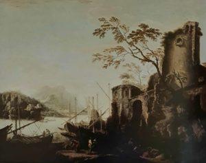 Сальватор Роза. Морской пейзаж с башнями. Питти. Галерея Палатина. Флоренция. 1640-ые