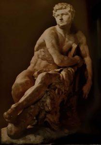 Пюже. Галльский Геркулес. 1661-1662. Каррарский мрамор. Высота 165 см. Лувр