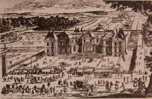 Замок Во-ле-Виконт со стороны входа. Гравюра Переля