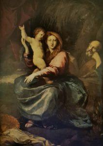 Пюже. Святое семейство с пальмой. 1662-1663