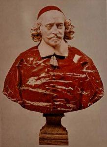Антуан Куазевокс. Бюст кардинала Мазарини. Красный и белый мрамор