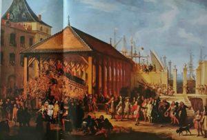Посещение «La Royale». Картина художника J.-B. de La Rose. Версаль