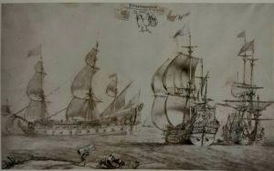 Пюже. Три разных судна, нарисованных по заказу Кольбера