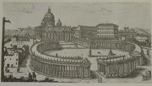 Жан Лоренцо Бернини. Площадь собора Св. Петра. Коллонада. Рим. 1656-1667