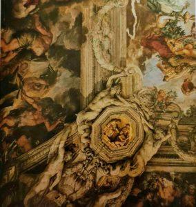 Пьетро да Кортона. Триумф Божественного Провидения. фрагмент.1633-1639. Палаццо Барберини. Рим