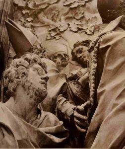 Альгарди. Папа Лев Великий посылает Аттилу из Рима. Фрагмент