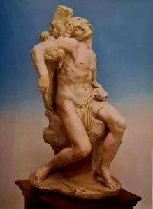 Бернини. Св. Себастьян. 1616-1617. Мрамор. Высота 1 м. Коллекция Тиссен-Борнемиса в Лугано