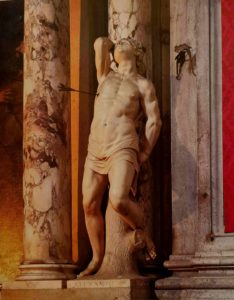 Алессандро Витториа. Св. Себастьян. 1600. Мрамор. Высота 170 см. Церковь Сан-Сальваторе (Христа Спасителя). Венеция