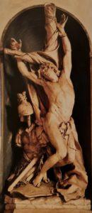 Пюже. Мученичество Св. Себастьяна. Мрамор. Церковь Санта Мария Ассунта в Генуе