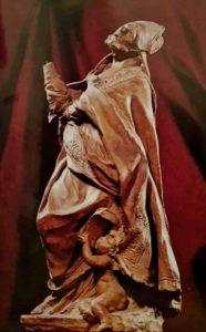 Пюже. Алессандро Саули. Терракотовый эскиз для статуи в церкви Санта Мария Ассунта в Генуе. 1660-ые. Высота 47 см. Музей Гране в городе Экс-ан-Прованс, Франция