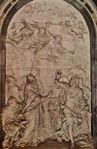 Альгарди. Папа Лев Великий посылает Аттилу из Рима. 1643-1653. Мрамор. Собор Св. Петра. Рим