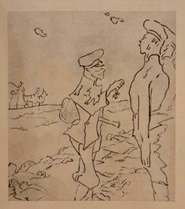 В.Серов. Карикатура на Николая II, награждающего «усмирителей». Все были свободолюбивые тогда. 1905